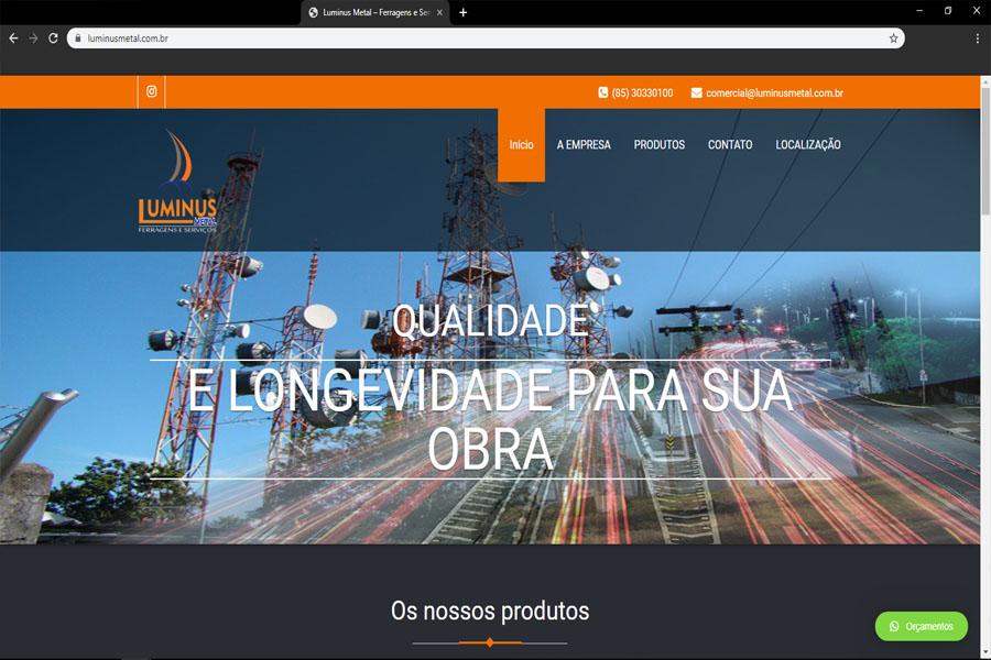 Desenvolvimento site Luminus